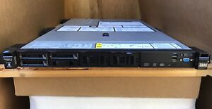 IBM x3550 M5 Server Two E5-2620V3 32GB 8x SFF M1215 2x 550W PSU Damage