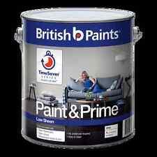 BRITISH BY DULUX 2 LITRE PAINT&PRIME WASHLOW/SHEEN  INTERIOR  WHITE colour paint