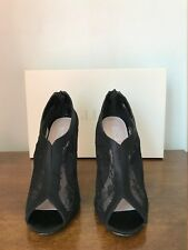 Glint Black Lace Open Toe Booties Size 7 M Pre-Owned