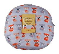Newborn Infant Lounger Cover Baby Gray Foxes Water Resistant Unisex Shower Gift