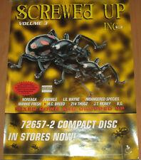 SCREWED UP INC #3, Smokin Records comp promo poster, 2000, 18x24, EX, hip-hop