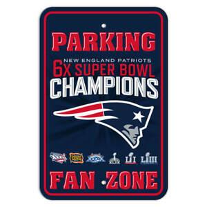 New England Patriots 6x SUPER BOWL CHAMPIONS Parking Sign Super Bowl LIII