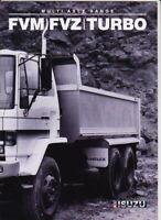 1988 ISUZU FVM & FVZ TURBO SERIES MULTI AXLE TRUCK Australian GMH 8p Brochure