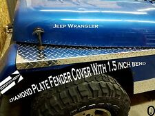 Jeep Wrangler YJ Aluminum Diamond Plate Fender Covers With 1.5 inch BEND. SET