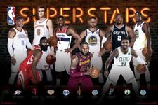NBA - Superstars 2017 POSTER 61x91cm NEW Lebron James Harden Durant Curry Irving