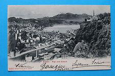 AK Luzern 1904 Ortsansicht Rigi Gütsch hotel Gebäudeansichten Stadtmauer Turm