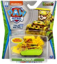 Paw Patrol JUNGLE RESCUE Rubble True Metal Vehicles NEW