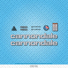 Cannondale R500 Bicycle Decals - Transfers - Stickers - Silver/Black - Set 0516
