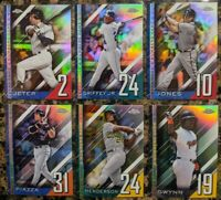 Lot of 6! Ken Griffey Jr Derek Jeter Jones 2020 Topps Chrome Update Numbers Game