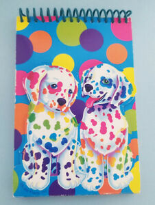 Lisa Frank Dalmation Spotty & Dotty Notebook Retro Vintage Puppies Dogs