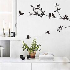 Three Bird Leaf Wall Paper Decor Removable Art Wall Sticker Mural Decal Vinyl