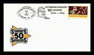 DR JIM STAMPS US STEELERS FIFTY SEASONS PITTSBURGH FOOTBALL COVER ART ROONEY