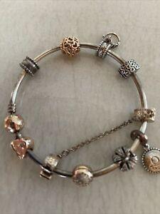 Pandora Bracrlet  with 10 charms