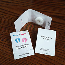 30 Personalized Baby Shower Gender Reveal Party Favors Mint Book Matchbook Style