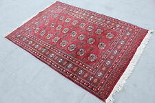 "Vintage Handmade Turkoman Area Red Wool Rug Carpet  180x123cm,72""x49"""