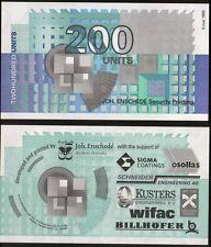 Test Note Joh. Enschedé Security Printing - 200 Units 1995 SPECIMEN - UNC