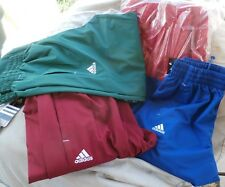Adidas Track Warm-up Pants S M L XL Red Green Burgundy Blues Climalite  FREE S/H