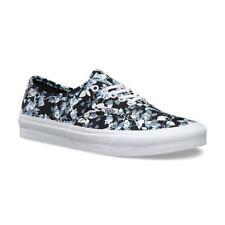 VANS Authentic Slim (Reverse Floral) Black True White Casual Shoes WOMEN'S 9