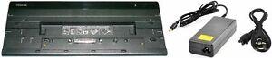 Toshiba PA3916A-1PRP Port Replicator II Dock Portege Tecra HDMI DP USB *INCL PSU