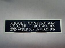 Miguel Montero Cubs Engraved Nameplate For A Baseball Bat Display Case 1.5 x 8