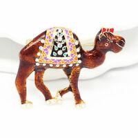 Betsey Johnson Women's Enamel Crystal Desert Animal Camel Charm Brooch Pin Gift