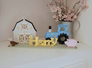 Nursery Sign, New Baby Gift, PERSONALISED Room Sign, Nursery Decoration, Farm