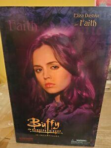 """Buffy Vampire Slayer 12"""" Faith Action Figure Eliza Dushku New Sideshow"""