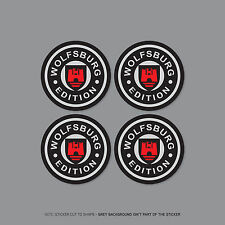 SKU2254 - 4 x VW Wolfsburg Alloy Wheel Centre Cap Stickers Badges Car - 55mm