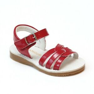 NIB L'amour Patent Cherry Red Leather Sandals Shoes Little Girl 8