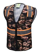 Camouflage Two Tones Safety Vest With Multi Pocket Tool