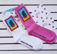More Than Dope Hot Pink Cactus Socks Supreme Streetwear Huf Thrasher Skateboard