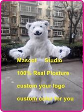 Polar Bear  Mascot Costume Suit Cosplay Party Game Dress Outfit Halloween Fancy