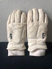 Vintage ROFFE Women's White Leather Ski Gloves Small/Medium