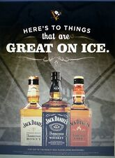 JACK DANIELS  PITTSBURGH PENGUINS  POSTER 18 BY 26