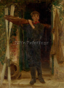 HENRY SCOTT TUKE PORTRAIT OF GEORGIE FOURACRE ARTIST PAINTING REPRODUCTION OIL