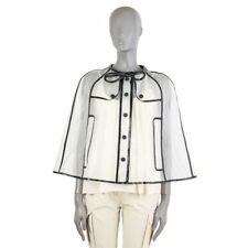 53857 auth BURBERRY PRORSUM clear PVC Rain Poncho Cape Coat Jacket 40 S