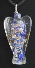 Colgante orgonita figura angel de 5 cm en minerales amatista cuarzo lapislazuli