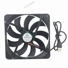 USB Fan 140mm 140x140x25mm DC 5V 0.25A Cooling Fan Quiet PC Computer Case Cooler