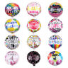 Happy Birthday Round Foil Balloon Party Decoration Aluminum Foil Air Balloons