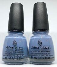 China Glaze Nail Polish Fade Into Hue 1147 Creamy Purple Blue Lacquer
