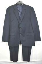 Van Heusen Men Pinstripe Notch Lapel 2-Button Slack Pant Wool Blend 2 Piece Suit