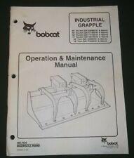 "BOBCAT 60"" 66"" 68"" 72"" 78"" BUCKET GRAPPLE OPERATION & MAINTENANCE MANUAL BOOK"