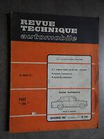 REVUE TECHNIQUE AUTOMOBILE RTA FIAT 124 Salon 1967