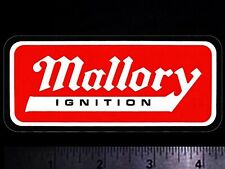 MALLORY Ignition - Original Vintage 1960's 70's Racing Decal/Sticker
