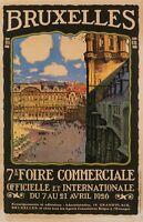 Original Vintage Poster - Toussaint - 7th Trade Fair - Brussels - Belgium - 1926