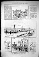 Old Sporting Dramatic News 1880 Sheffield Angling Match Fishing Yorks Victorian