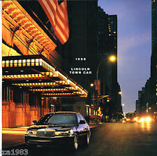 1998 LINCOLN TOWN CAR Brochure / Catalog with Color Chart