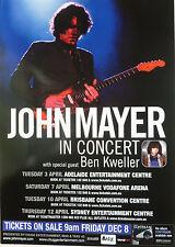 John Mayer & Ben Kweller 2007 Australian Concert Tour Poster - Pop Rock Music