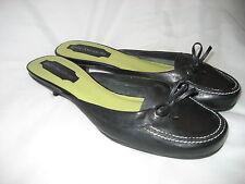 ENZO ANGIOLINI Black Leather Mules 6 ½ m