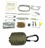 20-Piece Emergency Digital Camo Paracord Survival Kit